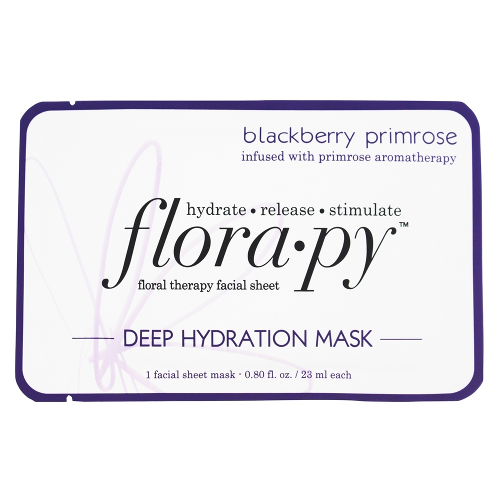 Florapy Floral Therapy Facial Sheet Deep Hydration Mask Blackberry Primrose