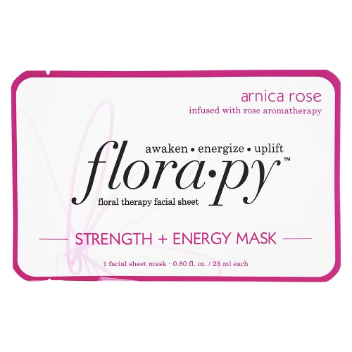 Florapy Floral Therapy Facial Sheet Strength + Energy Mask Arnica Rose