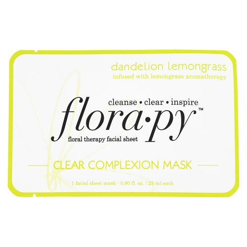 Florapy Floral Therapy Facial Sheet Clear Complexion Mask Dandelion Lemongrass