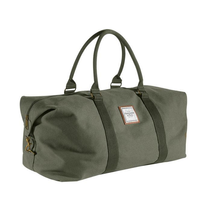 Abercrombie & Fitch Mens Green Duffle / Weekender Bag