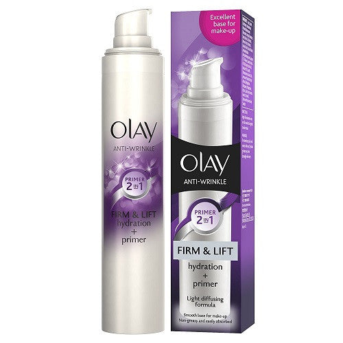 Olay Anti-Wrinkle Firm & Lift Hydration + Primer Light Diffusing Formula 50ml - Look Incredible
