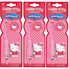Smile Guard Hello Kitty Toothbrush With Cap + Keychain (Pack Of 3)