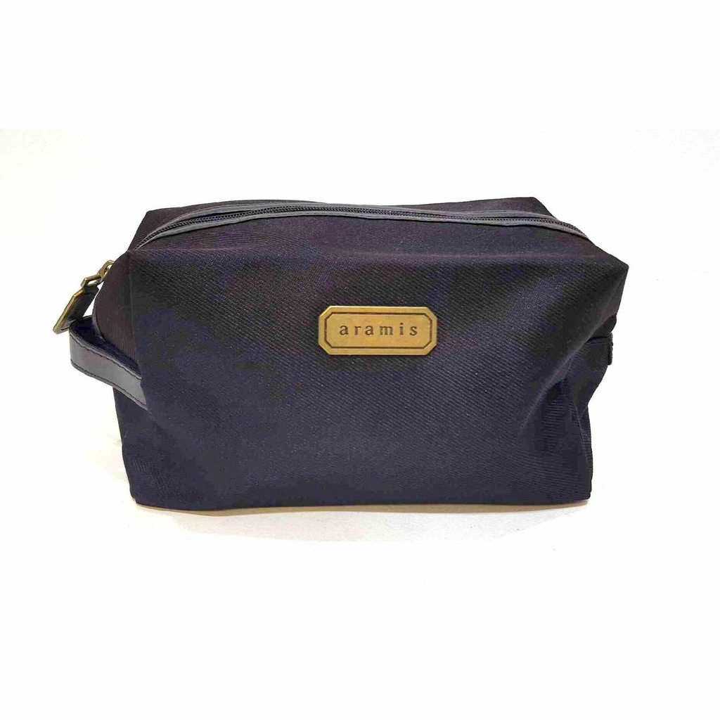 Aramis Classic Brown Mens Toiletry Wash Bag