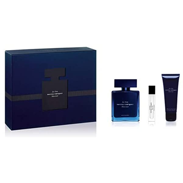 Narciso Rodriguez For Him Bleu Noir Gift Set 100ml EDP + Shower Gel 75ml + 10ml EDP