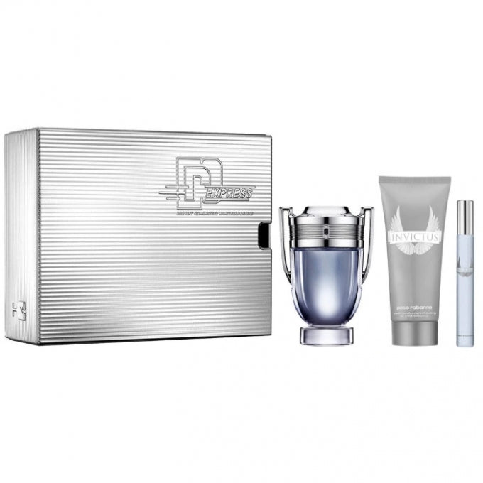Paco Rabanne Invictus Gift Set 100ml EDT + 100ml Shower Gel + 10ml EDT