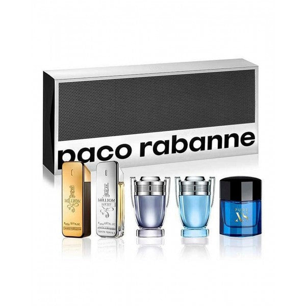 Paco Rabanne Mens 5 Piece Special Travel Edition Gift Set