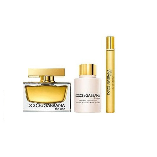 Dolce & Gabbana The One Gift Set EDP 75ml + EDP 10ml + Body Lotion 100ml