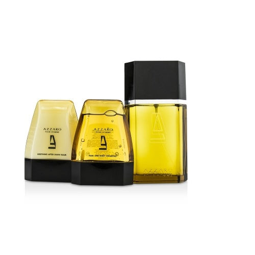Azzaro Pour Homme Gift Set 100ml EDT + 100ml Hair And Body Shampoo + 100ml Aftershave Balm