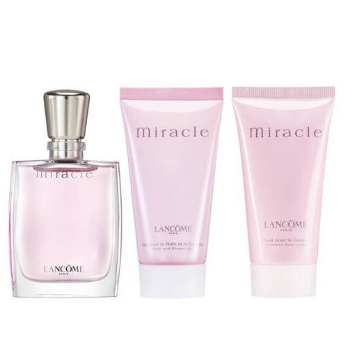 Lancome Miracle 3 Piece Gift Set 30ml EDP + Body Lotion 50ml + Shower Gel 50ml