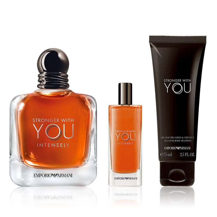 Armani Stronger with You Gift Set 100ml EDP + 15ml EDP + 75ml Shower Gel