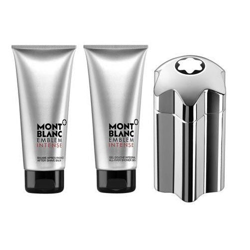 Montblanc Emblem Intense Gift Set 100ml EDT + 75ml After Shave Balm + 75ml Shower Gel