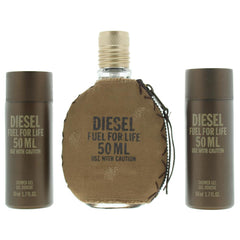 Diesel Fuel For Life Gift Set 50ml EDT + Shower Gel X 2 50ml