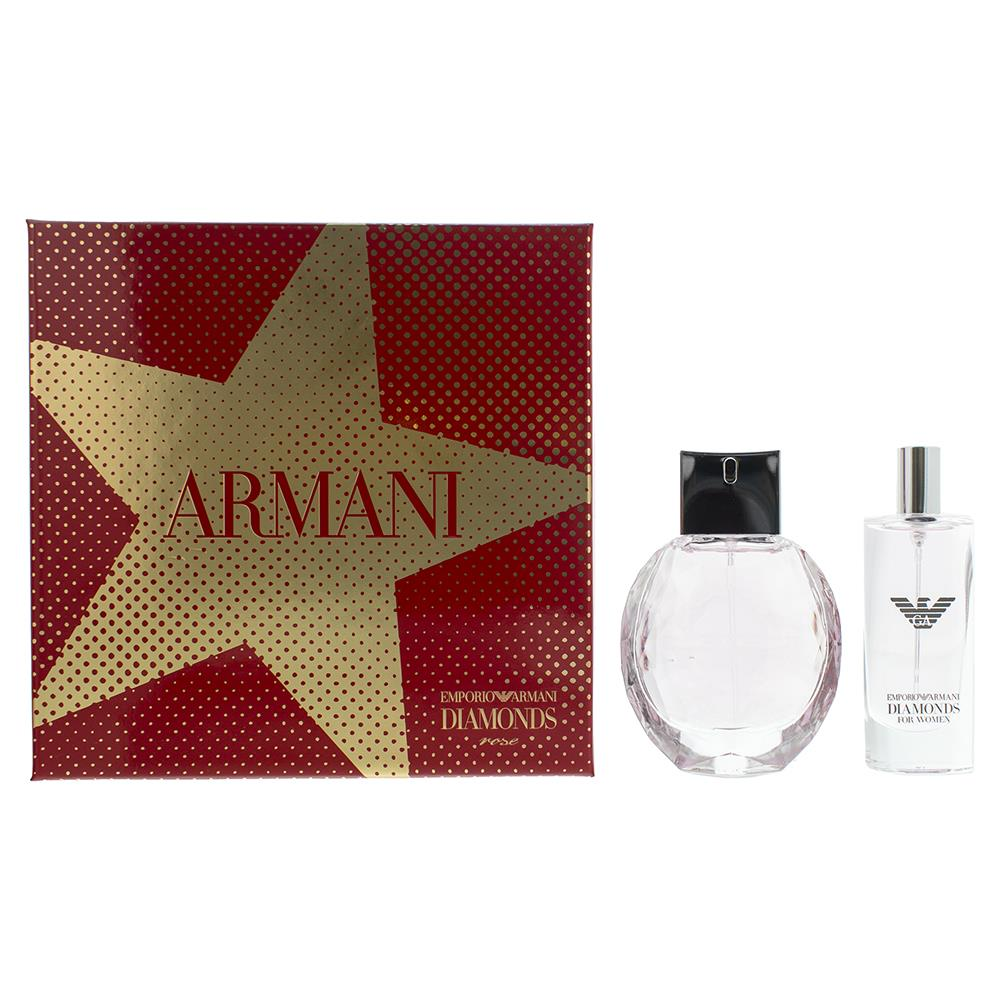 Emporio Armani Diamonds Rose Gift Set 50ml EDT + 15ml EDT