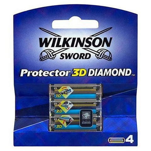 Wilkinson Sword Protector 3D Diamond - Pack Of 4 Blades - smartzprice