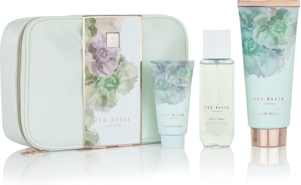 Ted Baker Mint Beauty Bag Body Wash 200ml + Body Spray 150ml + Body Lotion 50ml