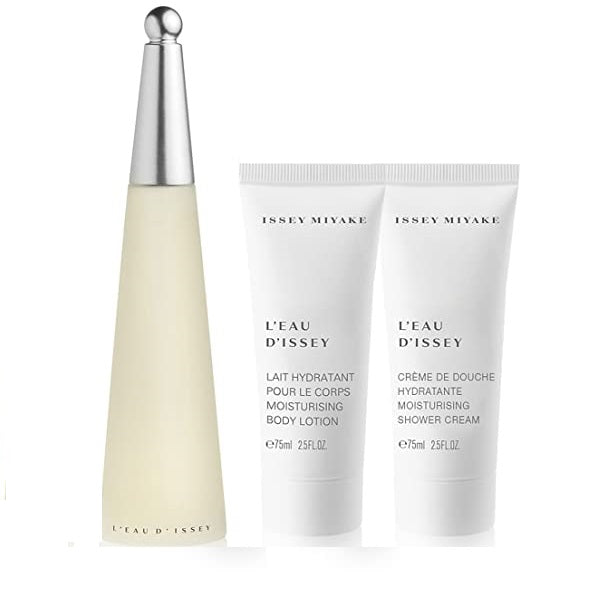 Issey Miyake L'eau D'issey Gift Set 50ml EDT + Shower Cream 50ml + Body Lotion 50ml