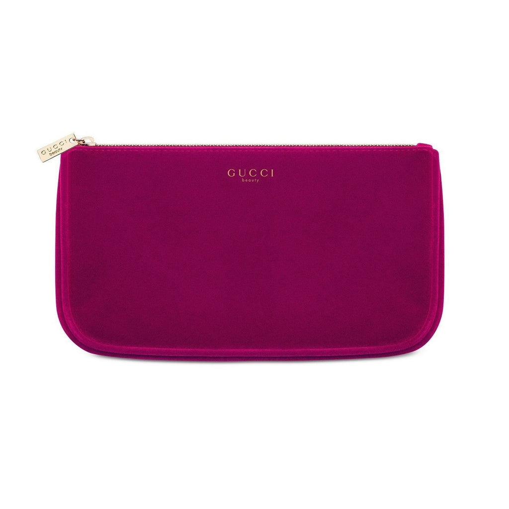 88e77c576866 Gucci Burgundy Velvet Makeup Cosmetic Bag Travel Pouch