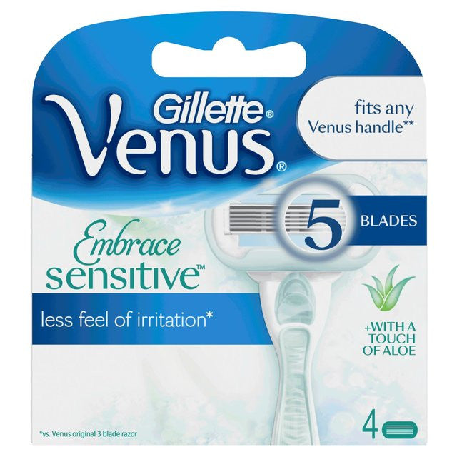 Gillette Venus Embrace Sensitive 4 Razor Blade Refills - Look Incredible