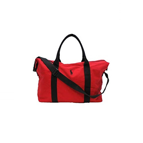 Ralph Lauren Large Red, Holdall, Gym, Travel, Weekend, Duffle Le Sac Bag