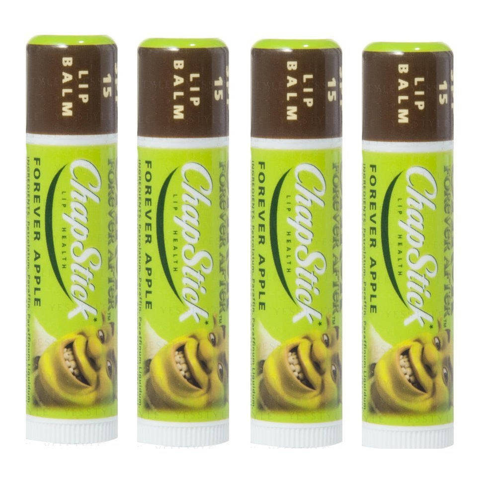 Chapstick Shrek Forever After Lip Balm SPF 15  (Pack of 4) - Look Incredible