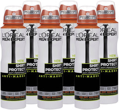 L'Oreal Men Expert Shirt Control Deodorant 150ml Pack of 6