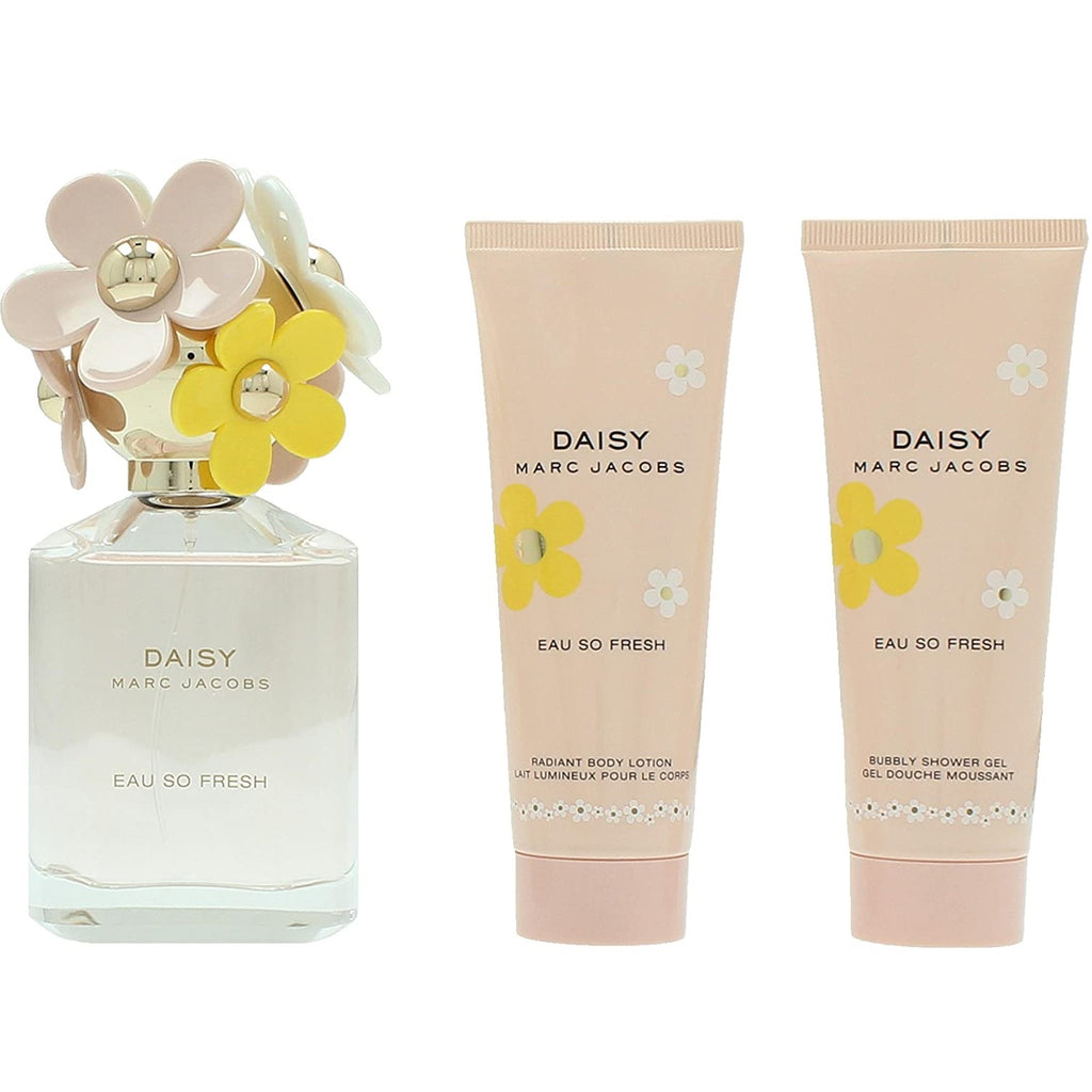 Marc Jacobs Daisy Eau So Fresh Gift Set 75ml EDT + Body Lotion 75ml + Shower Gel 75ml