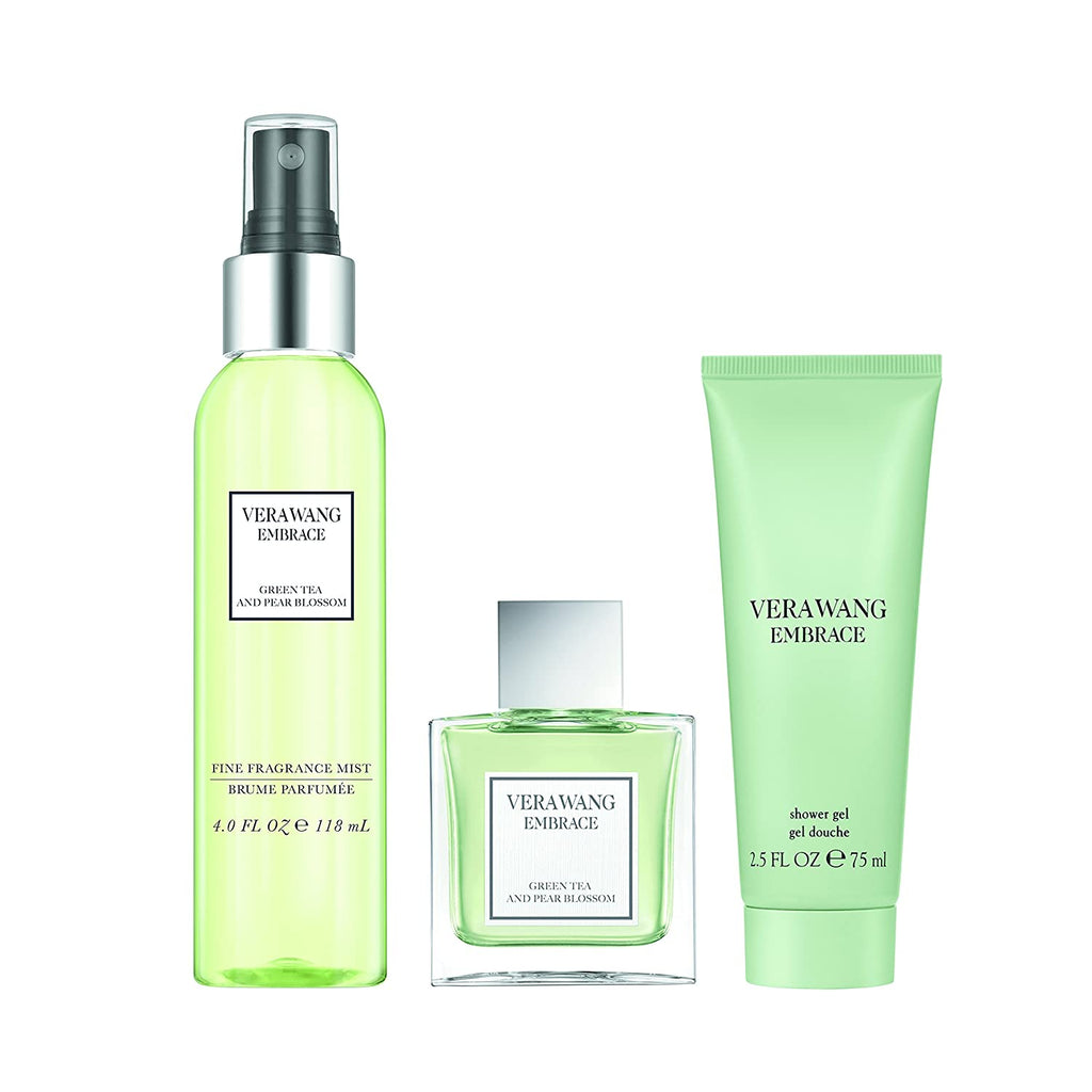Vera Wang Embrace Gift Set Green Tea and Pear Blossom 30ml EDT + Fragrance Mist 118ml + Body Lotion 75ml