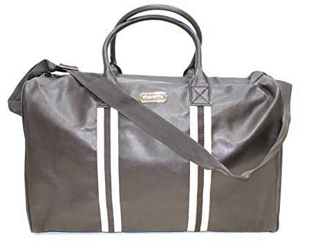 Aramis Faux Leather Brown Holdall/Travel Bag