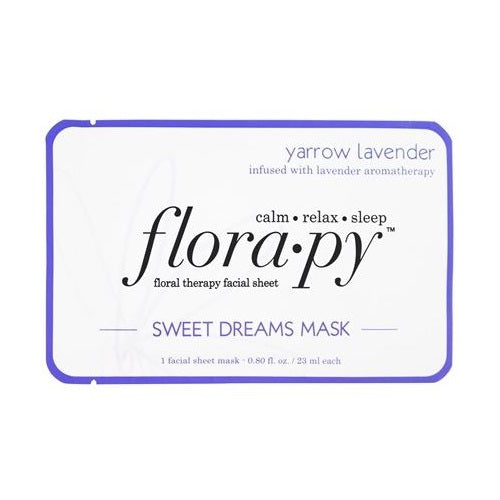 Florapy Floral Therapy Facial Sheet  Sweet Dreams Mask Yarrow Lavender
