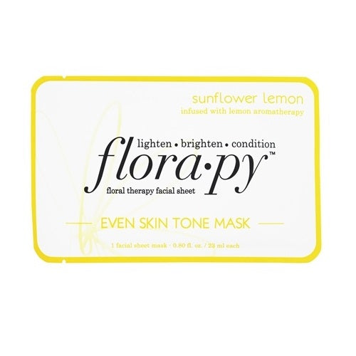 Florapy Floral Therapy Facial Sheet Even Skin Tone Mask Sunflower Lemon