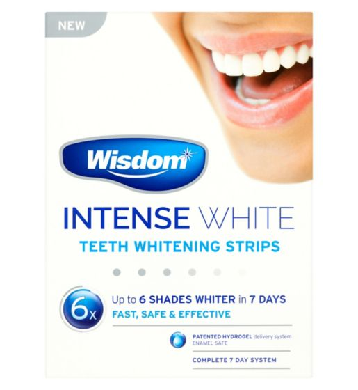 Wisdom Intense White Teeth Whitening Strips
