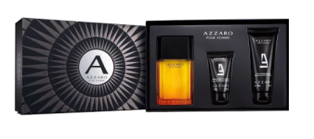 Azzaro Pour Homme Gift Set 100ml EDT + 100ml Hair & Body Shampoo + 50ml Aftershave Balm