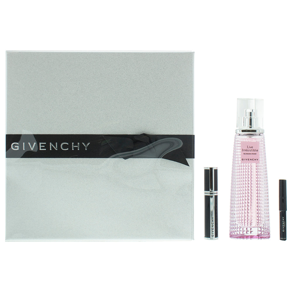 Givenchy Live Irrésistible Blossom Crush Gift Set 50ml EDT + Mascara 4g + Mini Khol