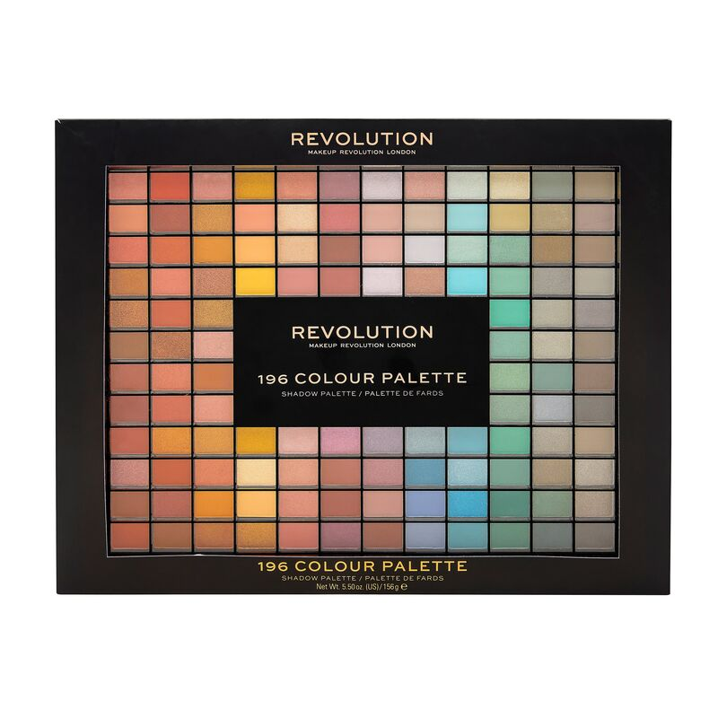 Revolution 196 Colour Eyeshadow Palette 156g