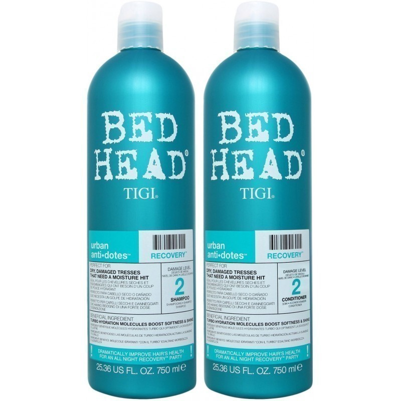 Tigi Bed Head Urban Antidotes Recovery Shampoo and Conditioner for Dry Hair 2x750ml