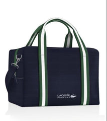 Lacoste Navy Blue Holdall Sports Overnight Weekender Bag