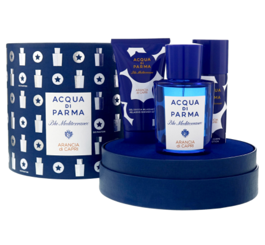 Acqua Di Parma Blu Mediterraneo Arancia Di Capri Gift Set 75ml EDT + 75ml Shower Gel + 75ml Body Lotion