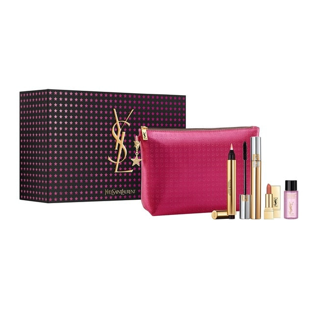 Yves Saint Laurent Gift Set Touche Eclat 2.5ml + Mascara 7.5ml + Mini Lipstick + Mini Makeup Remover