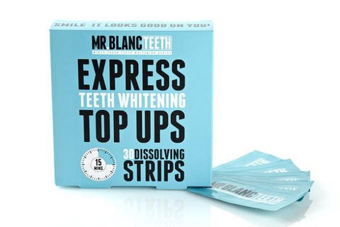 Mr Blanc Express Teeth Whitening Top Ups 30 Strips - smartzprice
