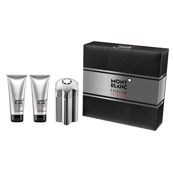 Montblanc Emblem Intense 3 Pieces Gift Set 100ml EDT + Aftershave 100ml + Shower Gel 100ml
