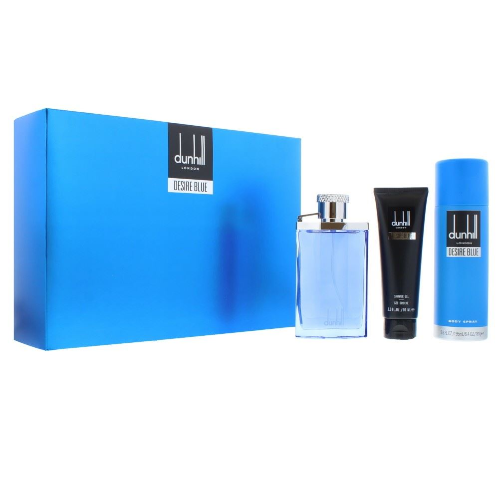 Dunhill Desire Blue Gift Set 100ml EDT + 195ml Body Spray + 90ml Shower Gel