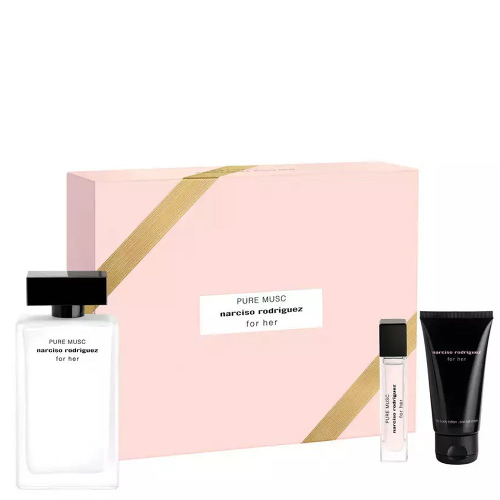 Narciso Rodriguez For Her Gift Set 100ml EDP + 10ml EDP + Body Lotion 50ml