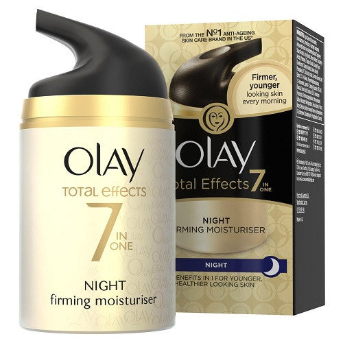 Olay Total Effects 7 in One Night Firming Moisturiser 50ml - Look Incredible