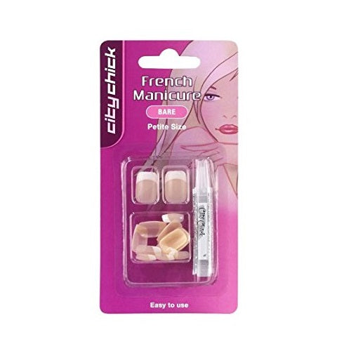 French Manicure Petite Nails Square, Bare