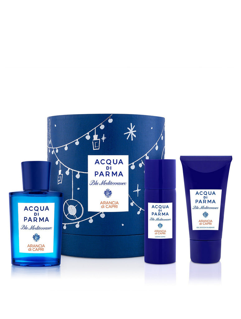 Acqua Di Parma Blu Mediterraneo Arancia Di Capri Gift Set 75ml EDT + 40ml Shower Gel + 50ml Body Lotion