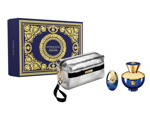 Versace Dylan Blue Pour Femme Gift Set 100ml EDP + 10ml EDP + Pouch