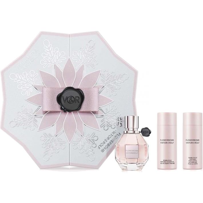 Viktor & Rolf Flowerbomb Gift Set - EDP 50ml + Perfumed Shower Gel 50ml + Perfumed Body Lotion 50ml