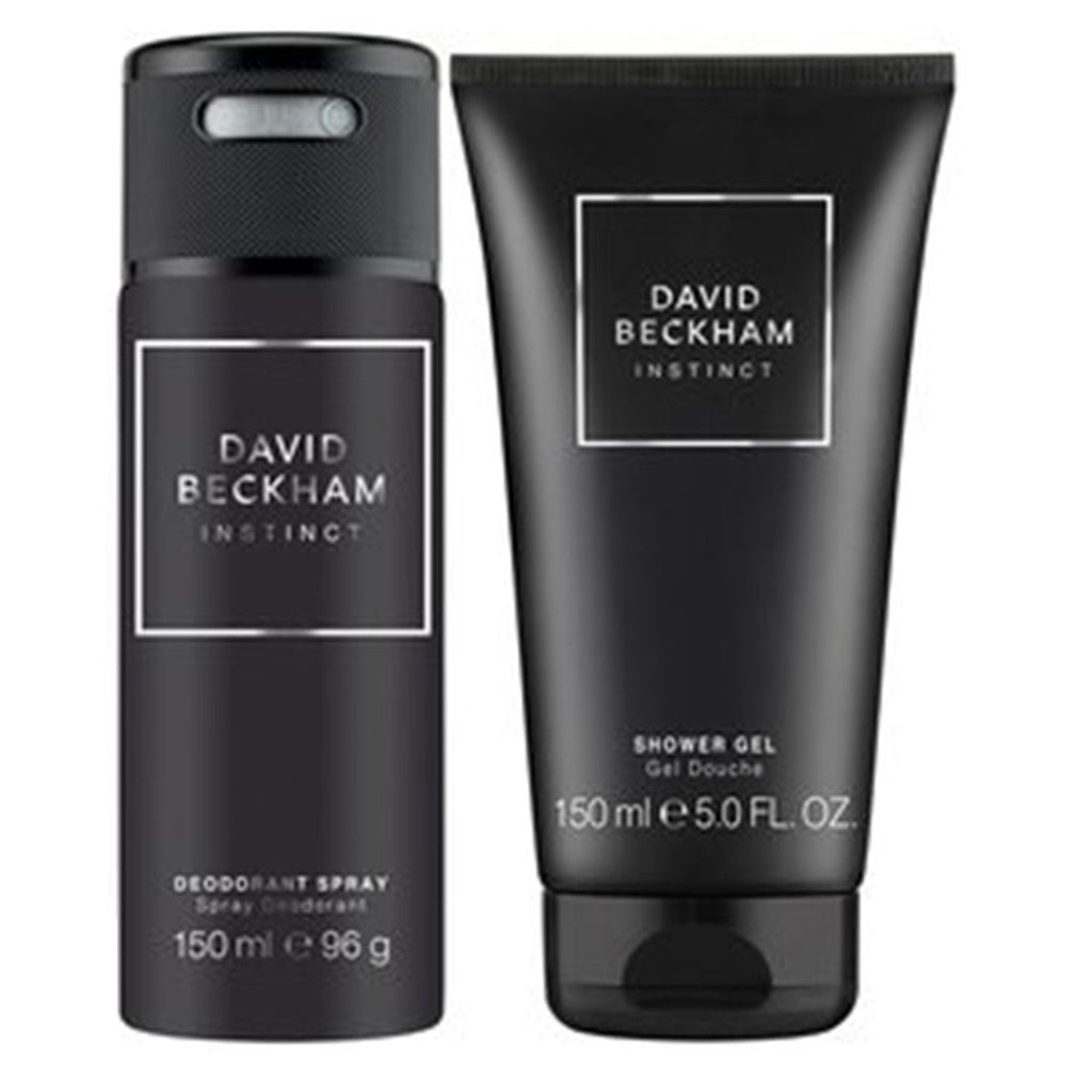 David Beckham Instinct 2 Piece 150ML Deodorant Spray + 150ML Shower Gel