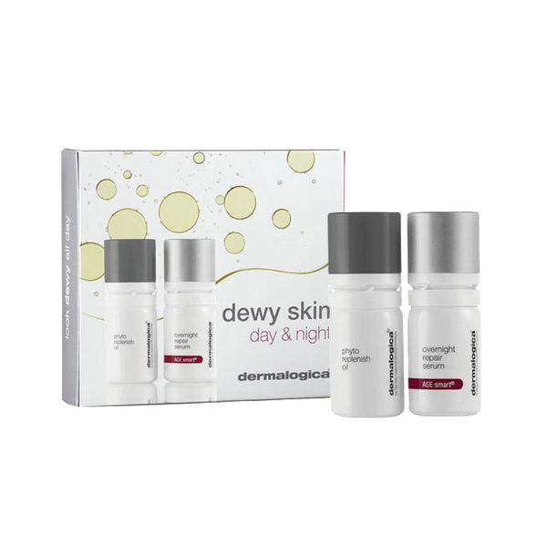 Dermalogica Dewy Skin Day & Night Gift Set 5ml Phyto Replenish Oil + 5ml Overnight Repair Serum
