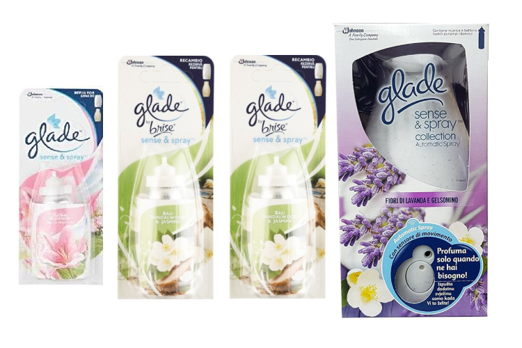 Glade Sense & Spray Collection Automatic Spray Lavender & Jasmine Flowers 18ml + 3 Refills